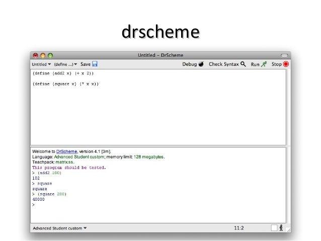 DrScheme: Learning - plt-scheme.org