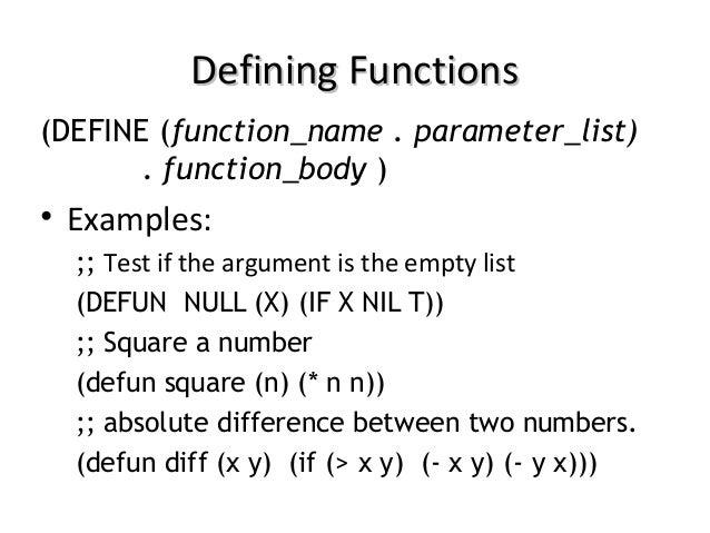 Lisp and scheme i
