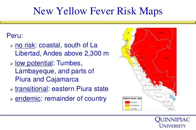Yellow Fever: Risk Mapping