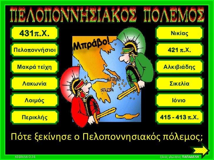 431π.Χ.                           ΝικίαςΠελοποννήζιοι                      421 π.Χ. Μακρά ηείτη                    Αλκιβιά...
