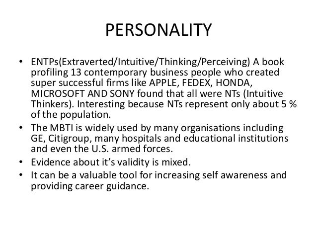 o b c 5 personality and values