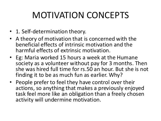 theories and concepts of motivation It's the only motivational theory that splits out demotivating factors from true  motivators it introduces the concept of movement vs motivation and it's  produced.