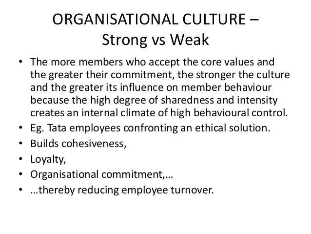 weak organizational culture