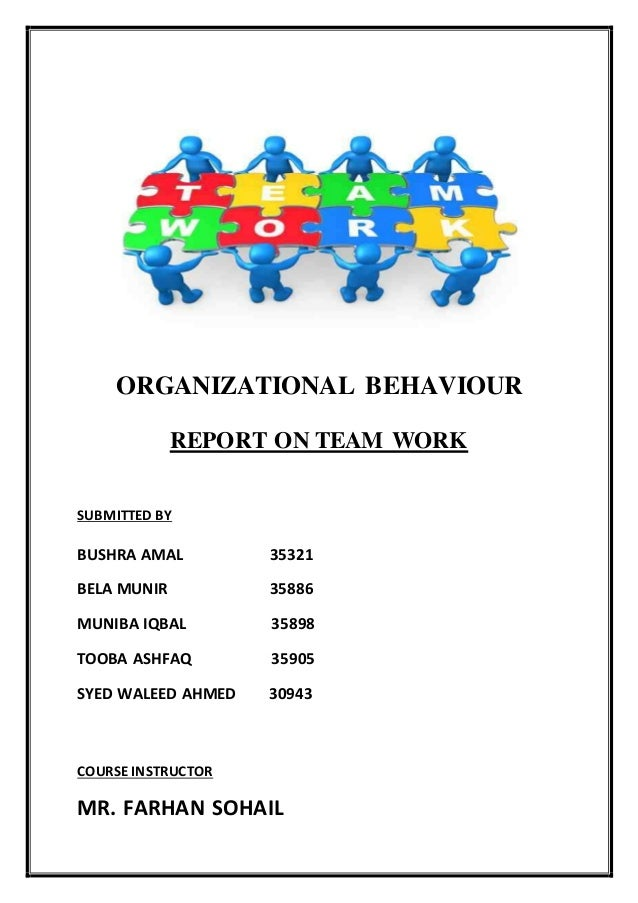 organizational behavior teamwork Insights by stanford business diversity and work group performance organizational behavior written diversity and work group performance research shows that informational diversity stirs constructive debate around the task at hand.