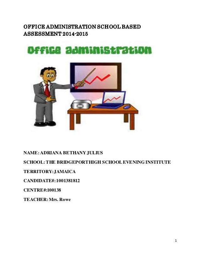 sample office administration school based assessment