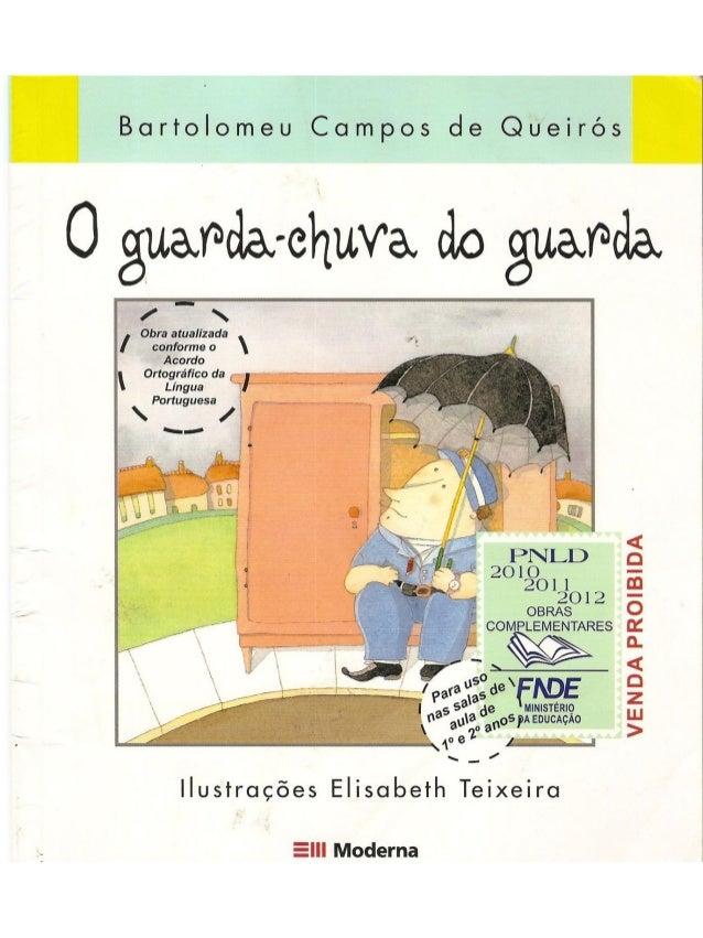 """A professora Cynthia escolheu trabalhar comsua turma o livro """"O guarda chuva doguarda"""". Pelo seu relato, podemos perceberq..."""