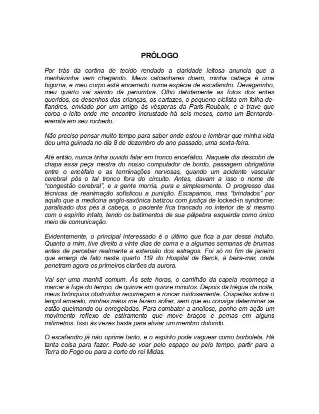 O Escafandro E A Borboleta Jean Dominique Bauby