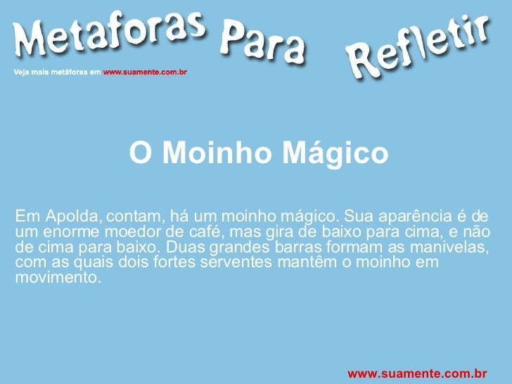 O Moinho Mágico Em Apolda, contam, há um moinho mágico. Sua aparência é de um enorme moedor de café, mas gira de baixo par...