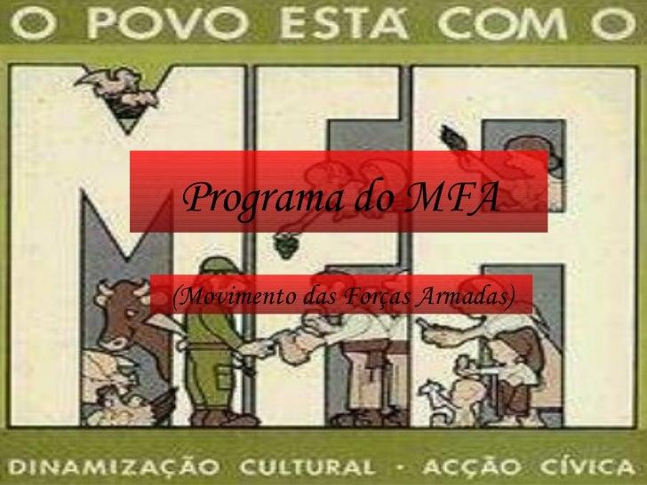 Programa do MFA (Movimento das Forças Armadas)