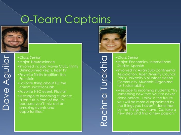 O-Team Captains<br />
