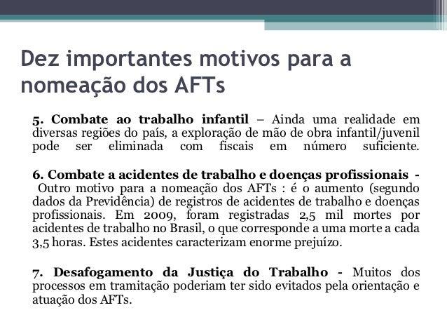 Dez importantes motivos para anomeação dos AFTs 5. Combate ao trabalho infantil – Ainda uma realidade em diversas regiões ...