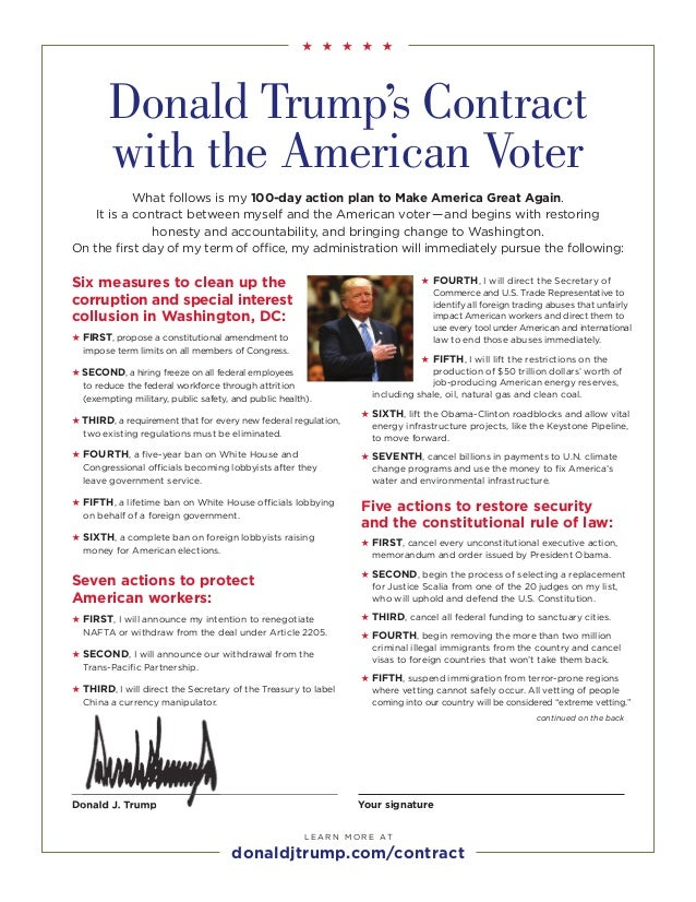 Donald Trump\'s Contract with the American Voter