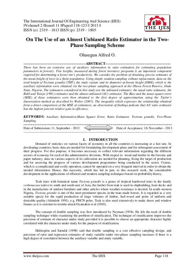 The International Journal Of Engineering And Science (IJES) ||Volume|| 2 ||Issue|| 11 ||Pages|| 118-123 || 2013 || ISSN (e...