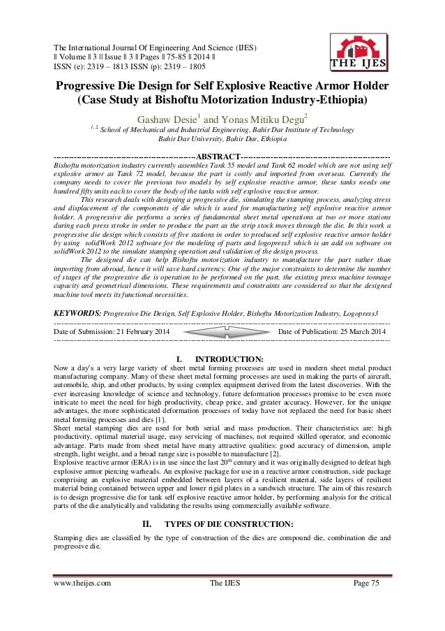 The International Journal Of Engineering And Science (IJES) || Volume || 3 || Issue || 3 || Pages || 75-85 || 2014 || ISSN...