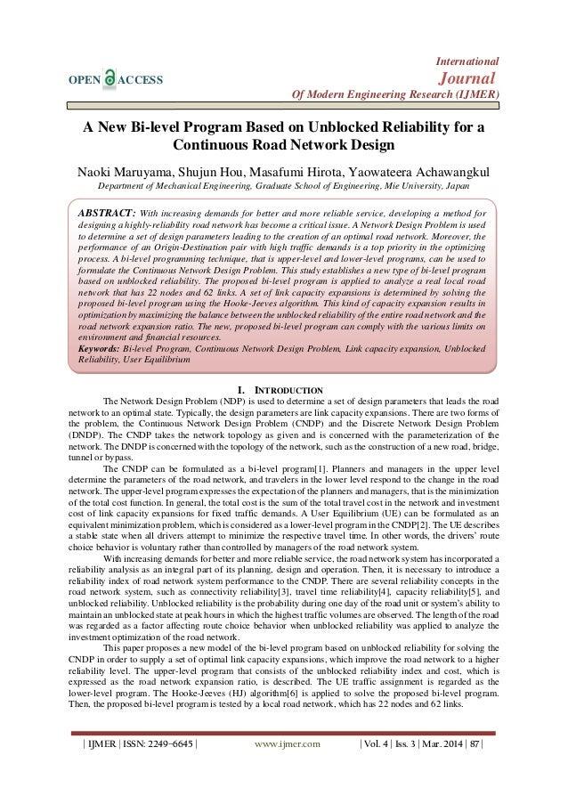 International OPEN ACCESS Journal Of Modern Engineering Research (IJMER) | IJMER | ISSN: 2249–6645 | www.ijmer.com | Vol. ...