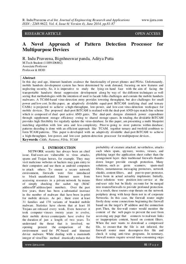R. Indu Praveena et al Int. Journal of Engineering Research and Applications www.ijera.com  ISSN : 2248-9622, Vol. 4, Issu...