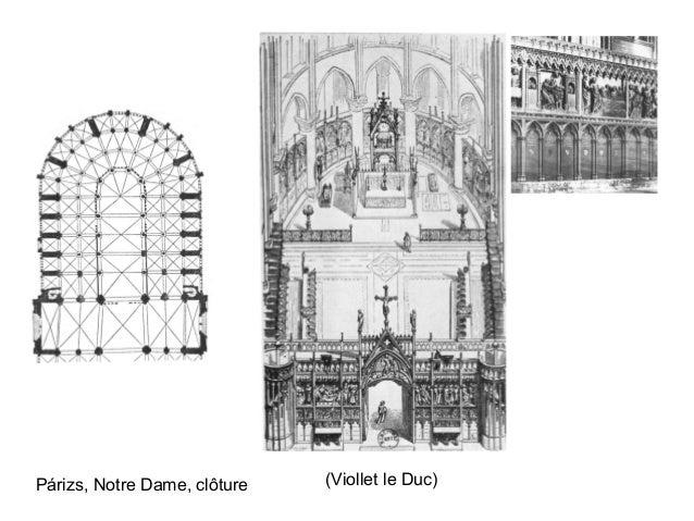 Párizs, Notre Dame, clôture (Viollet le Duc)