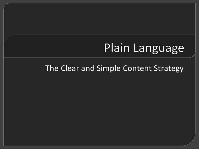 The Clear and Simple Content Strategy