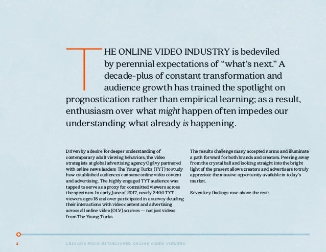 7 Lessons from Established Online Video Viewers  Slide 2