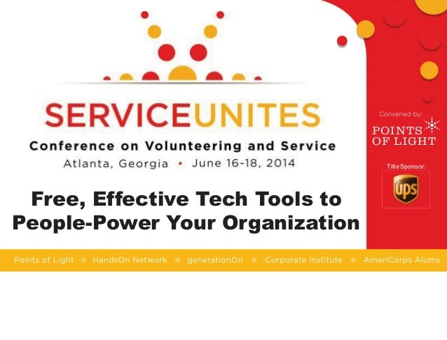 Title Sponsor: Free, Effective Tech Tools to People-Power Your Organization