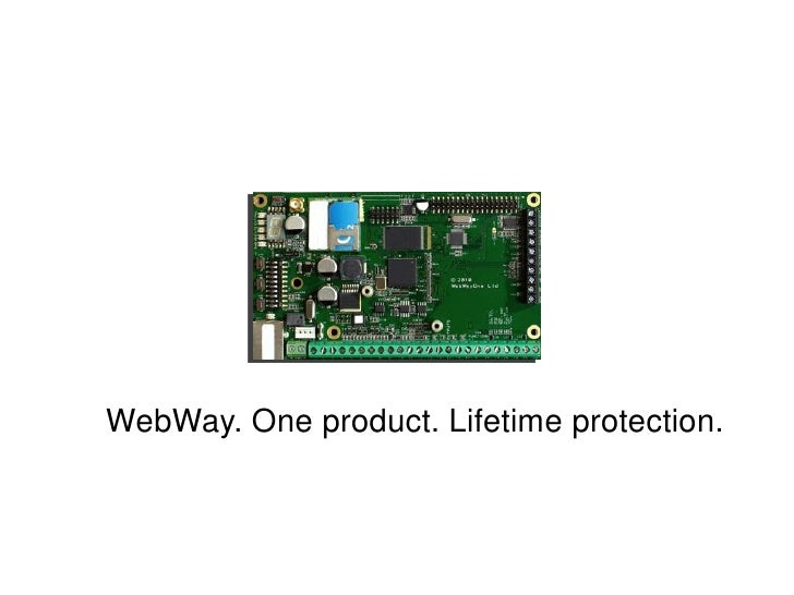 WebWay. One product. Lifetime protection.