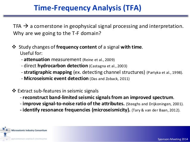 A review of time‐frequency methods Slide 3