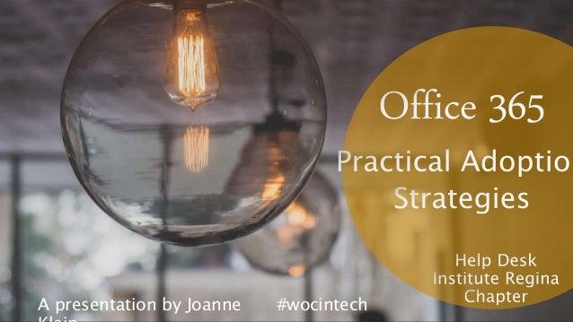 A presentation by Joanne #wocintech