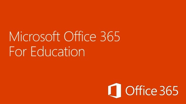 Microsoft Office 365 For Education signup