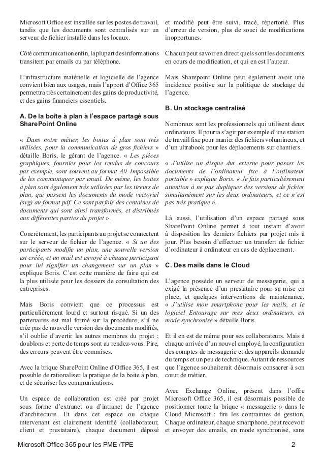 Microsoft office 365 pour les pme tpe guide - Office 365 comment ca marche ...