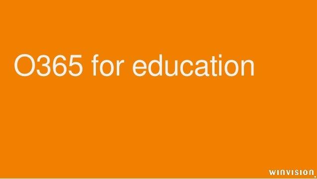 O365 for education