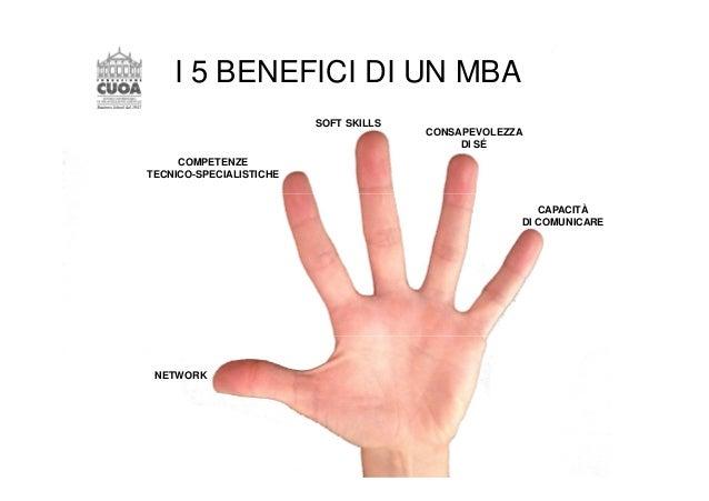 I 5 BENEFICI DI UN MBA  SOFT SKILLS  COMPETENZE  TECNICO-SPECIALISTICHE  NETWORK  CONSAPEVOLEZZA  DI SÉ  CAPACITÀ  DI COMU...