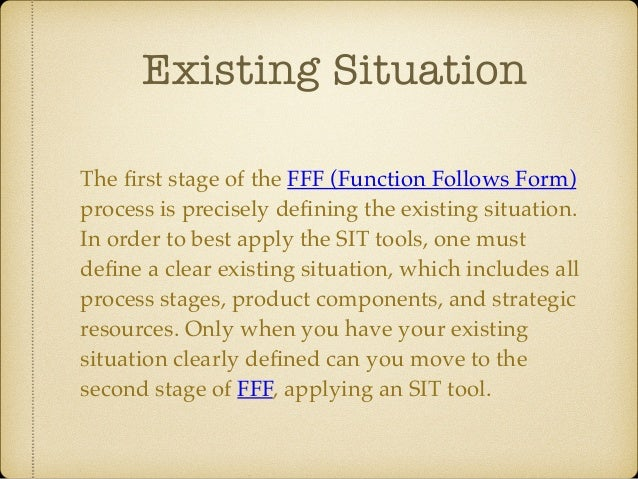 SIT Thinking Tools Subtraction Division Multiplication Task Unification Attribute Dependency