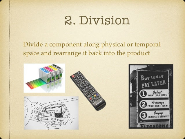 3. Multiplication Copy an already existing component and changing in some novel / counterintuitive way
