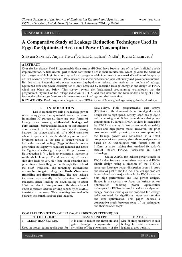 Shivani Saxena et al Int. Journal of Engineering Research and Applications ISSN : 2248-9622, Vol. 4, Issue 2( Version 1), ...