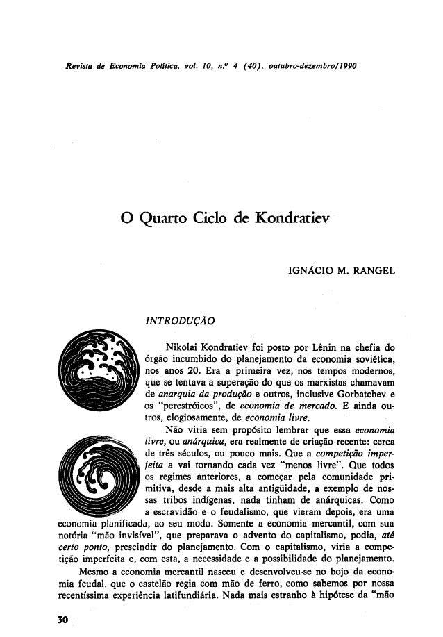 O quarto ciclo de kondratiev