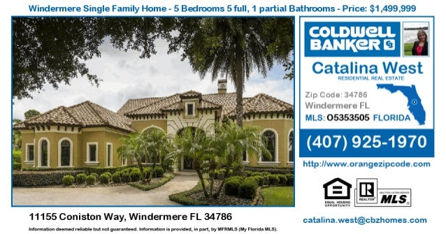 Homes for Sale in Windermere - 11155 Coniston Way, Windermere FL 34786