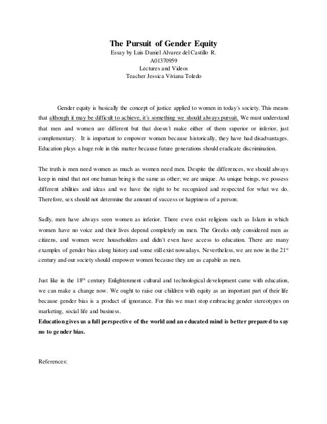 equity essay