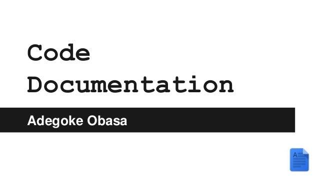 Code Documentation Adegoke Obasa