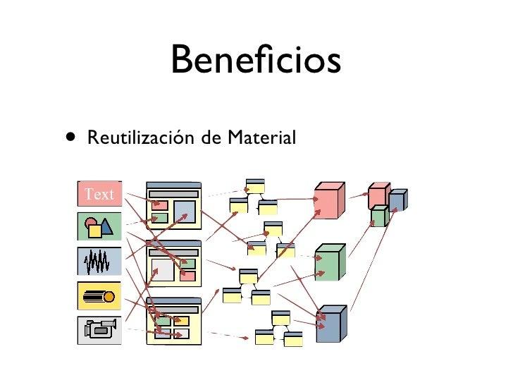 Beneficios • Facilita Diseño Instruccional