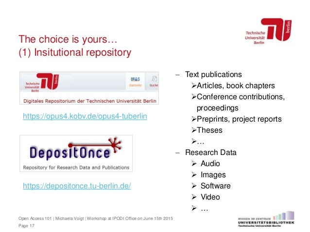 Open Access 101: Copyright, Open Access and free licensing