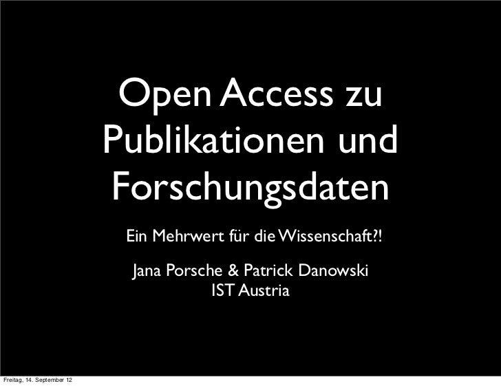 Open Access zu                            Publikationen und                            Forschungsdaten                    ...