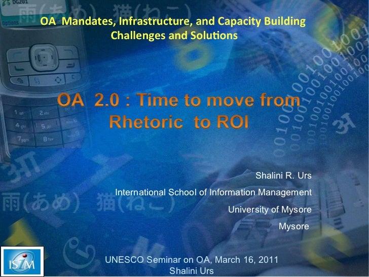Shalini R. Urs International School of Information Management University of Mysore Mysore