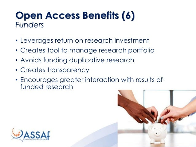 • Leverages return on research investment • Creates tool to manage research portfolio • Avoids funding duplicative researc...