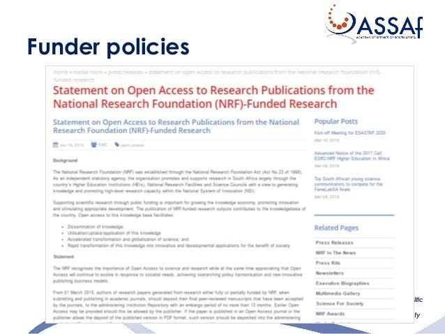 21 Funder policies