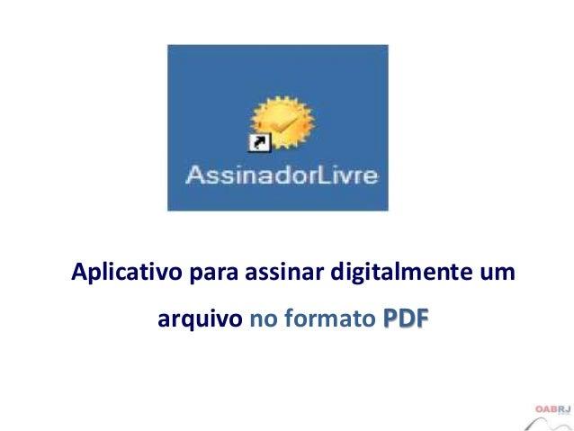 assinador digital gratuito