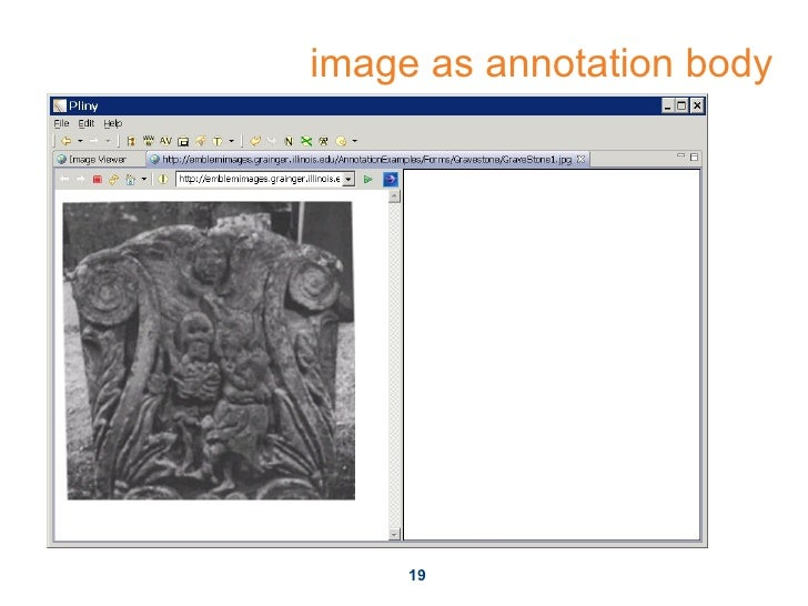 image as annotation body