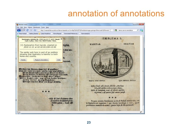 annotation of annotations