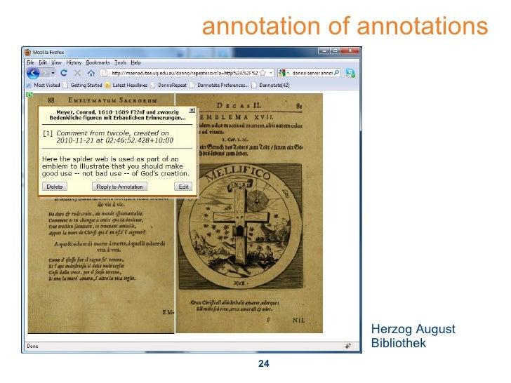 annotation of annotations Herzog August Bibliothek
