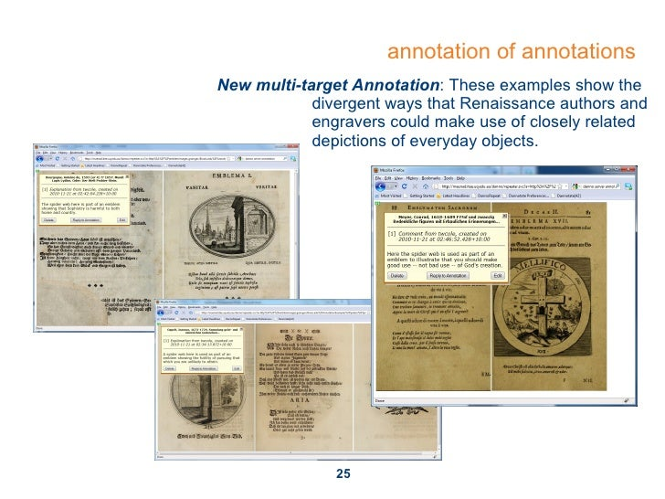 annotation of annotations New multi-target Annotation : These examples show the  divergent ways that Renaissance authors a...
