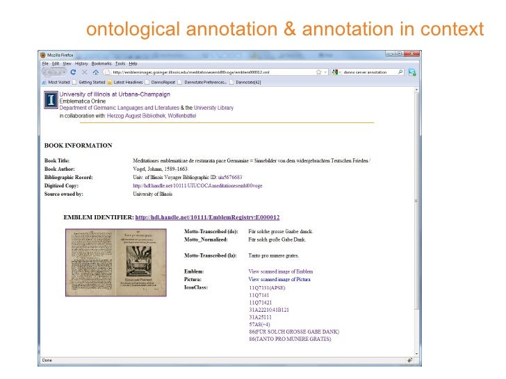 ontological annotation & annotation in context